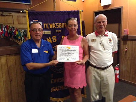 Tewksbury MA Lions Club Award Ceremony